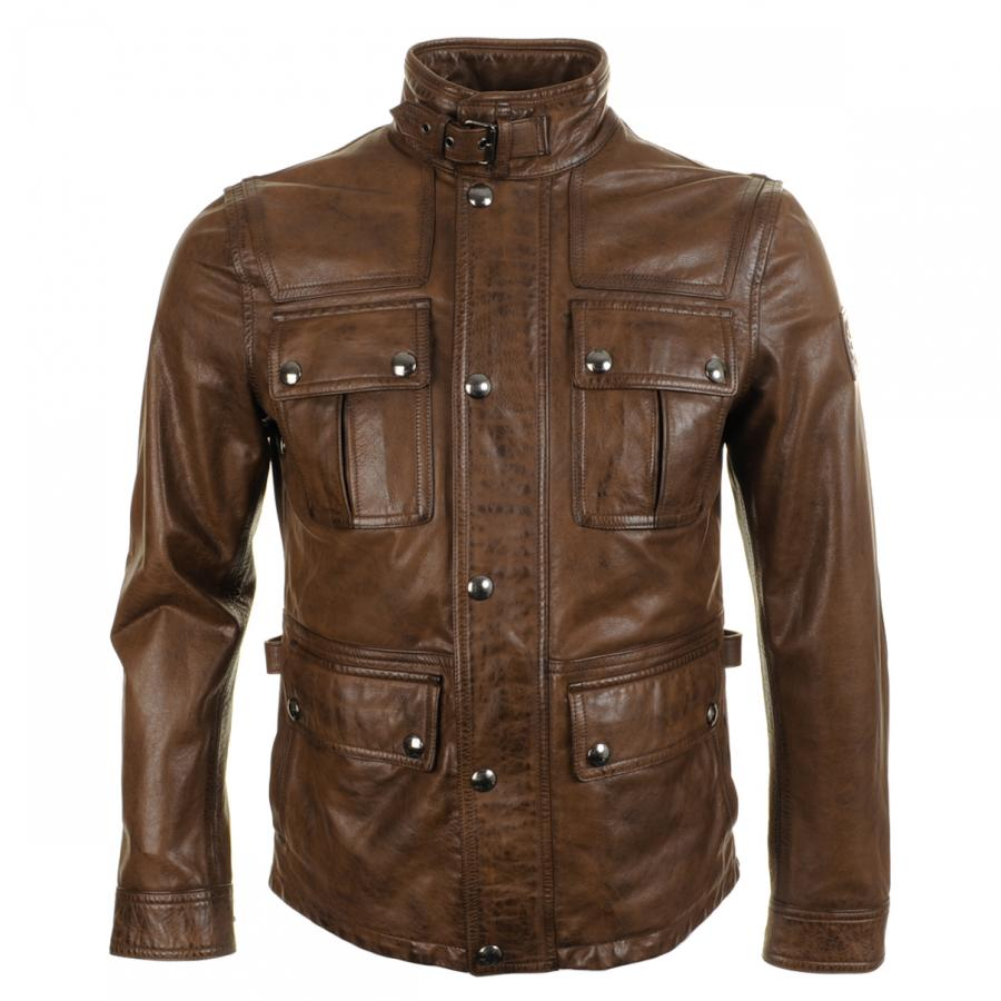 Belstaff Warrington Leather Jacket at Mainline Menswear