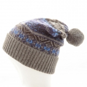 Hugo Boss Fair Isle Bobble Hat