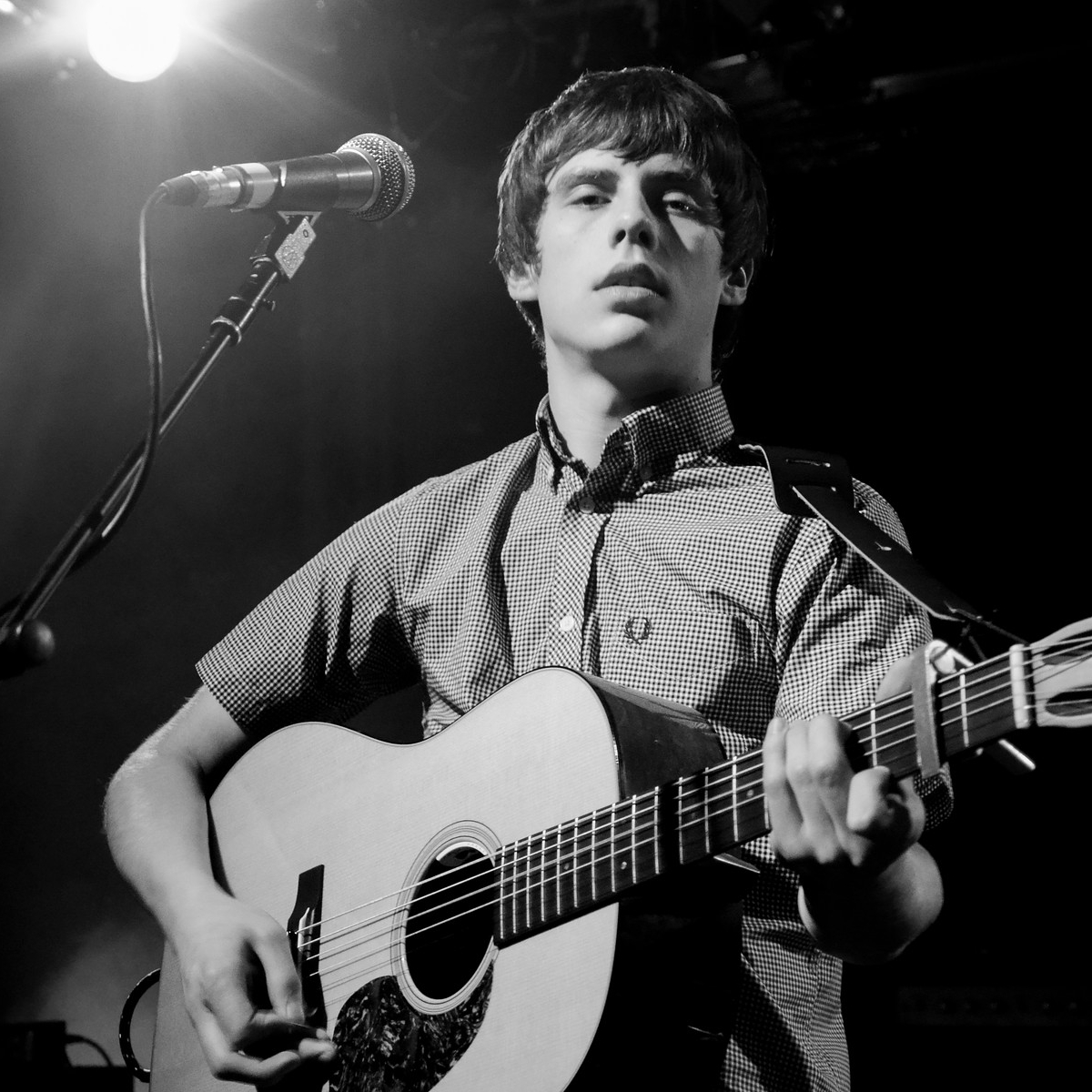 Jake Bugg Wearing a Gingham Check Fred Perry Shirt