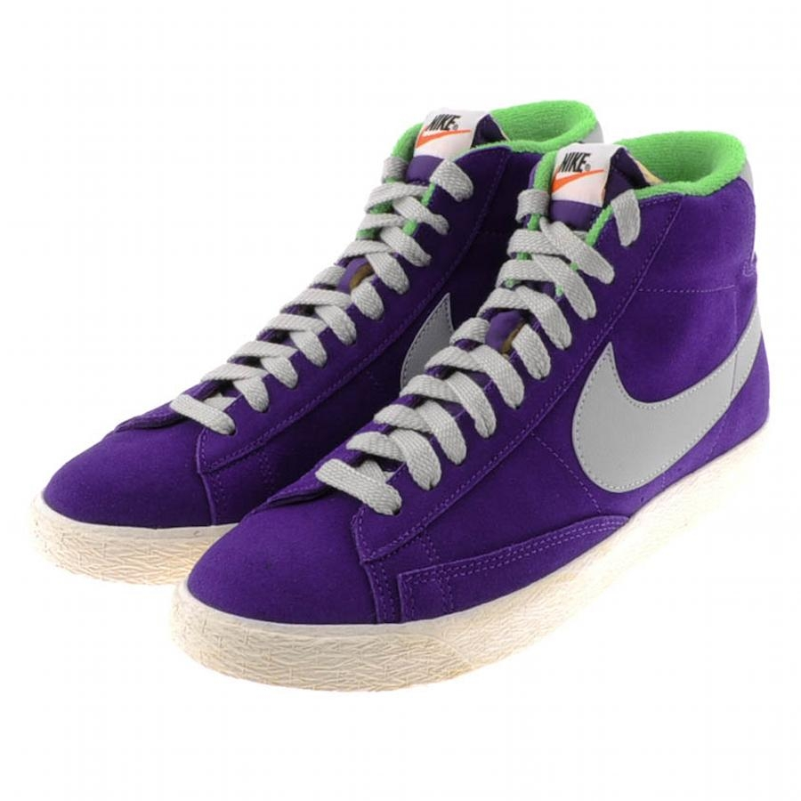 nike blazer low purple trainers