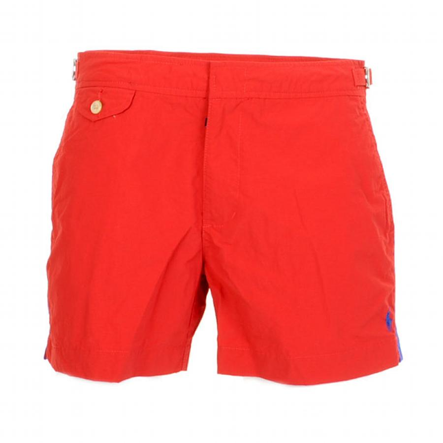 Ralph Lauren Venice Swimming Shorts in Red at Mainline Menswear