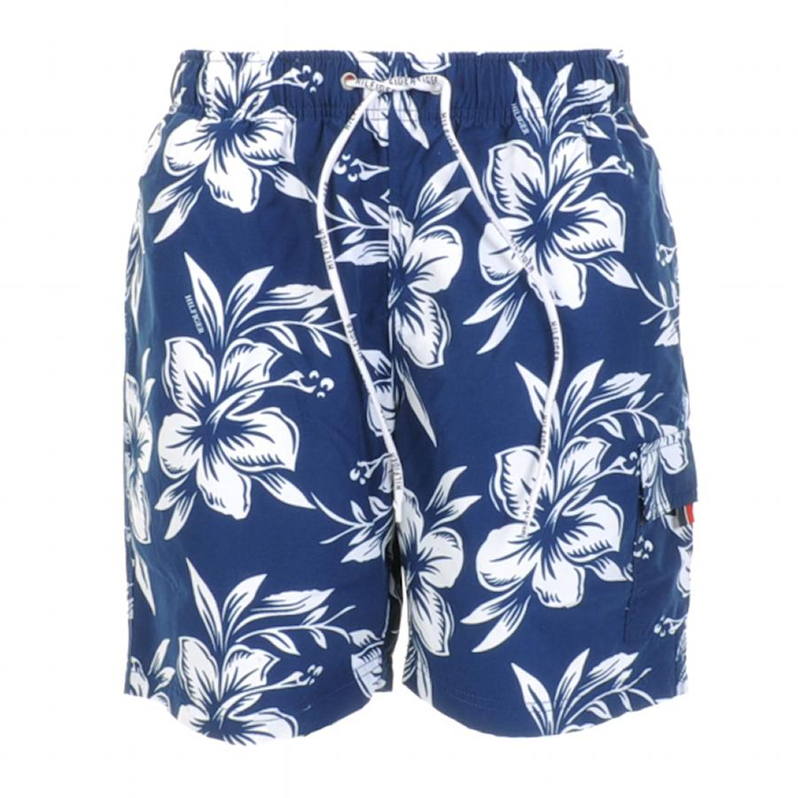 Tommy Hilfiger Nash Floral Swim Shorts in Navy at Mainline Menswear