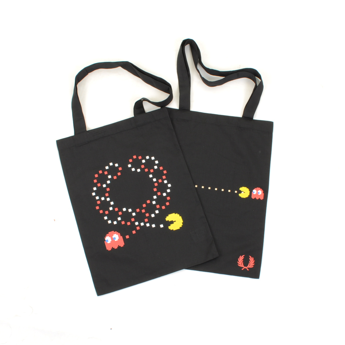 Fred Perry x Pac Man x Ten_do_Ten Free Tote Bag