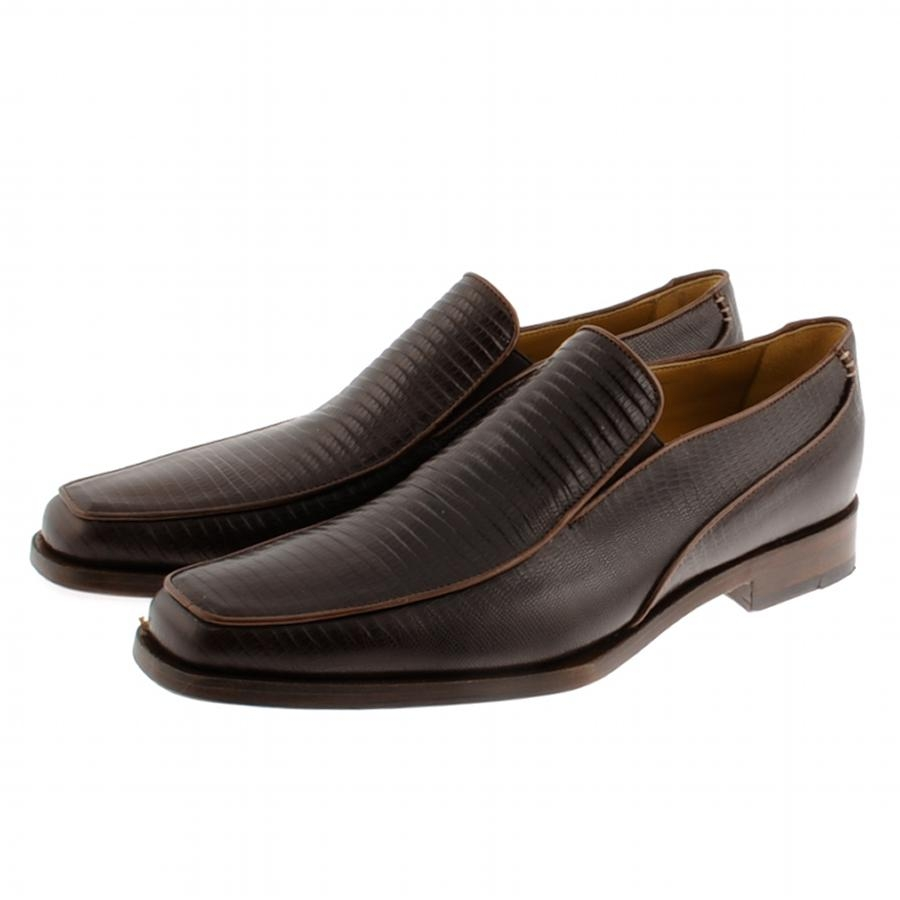 Oliver Sweeney Bushnell Shoes in Brown Lizard