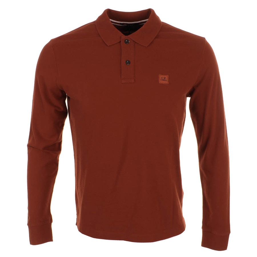Cp company regular fit polo t shirt red mainline for The red t shirt company
