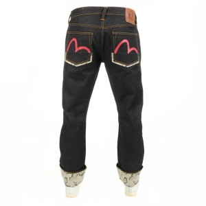 Evisu 2008 Straight Raw Border Denim Jeans Blue at Mainline Menswear