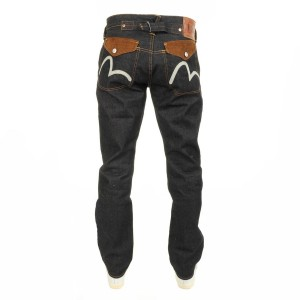Evisu 2008 Straight Raw Denim Jeans Blue