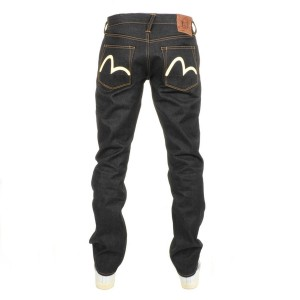 Evisu Raw Seagull Jeans Navy at Mainline Menswear