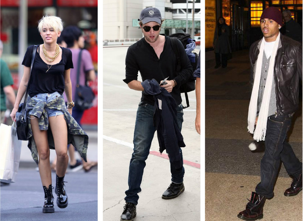 celebrities in dr martens