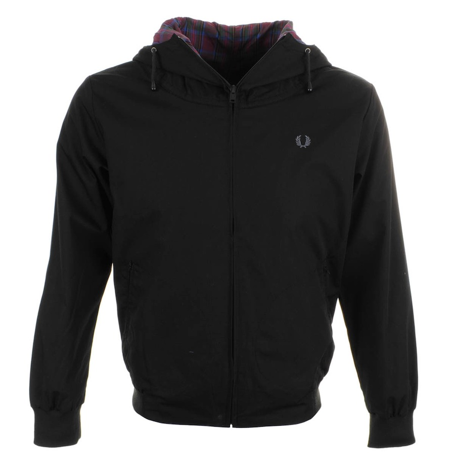 fred perry hooded tennis bomber jacket black mainline menswear blog. Black Bedroom Furniture Sets. Home Design Ideas