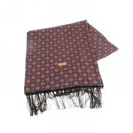 FRED PERRY WOVEN ROSE PRINT SCARF BLACK