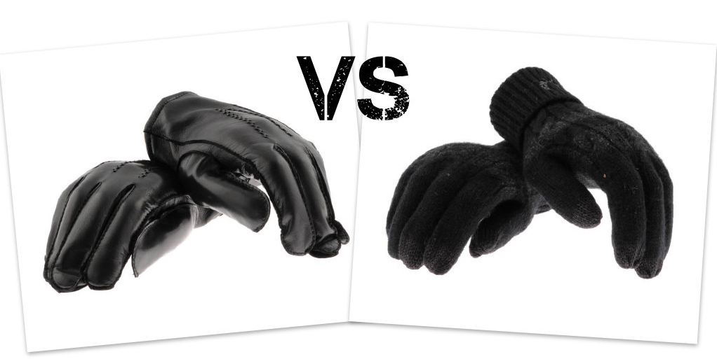 leather and wool gloves at Mainline Menswear