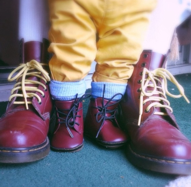 mother and son wearing Dr Martens