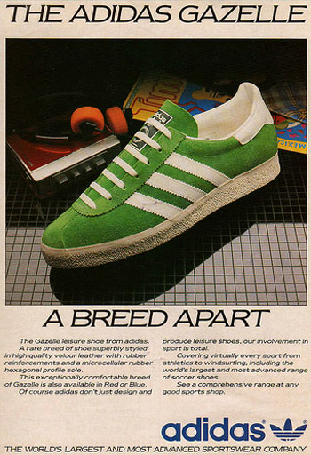 adidas Originals Gazelle promotion archive