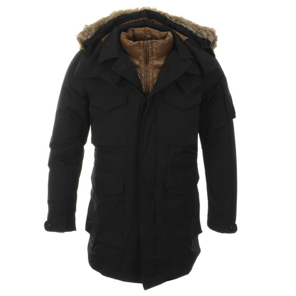 CP Company fur hooded shell liner jacket