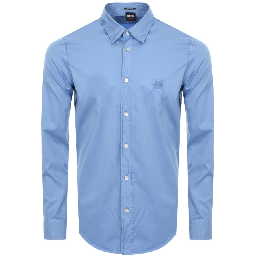 button up shirt in blue