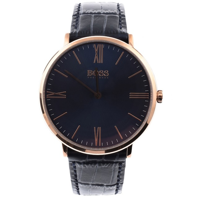 ... with the dark blue of the watch face contrasting beautifully against  the rose gold of the roman numerals – which themselves give the watch a  unique and ... bec5ffe36e1e