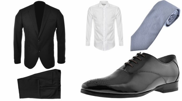 45e1ffb300e976 To start off this striking outfit, we have a wonderfully tailored black suit  and a crisp white shirt. Regarding footwear, you can't have a snappy suit  ...