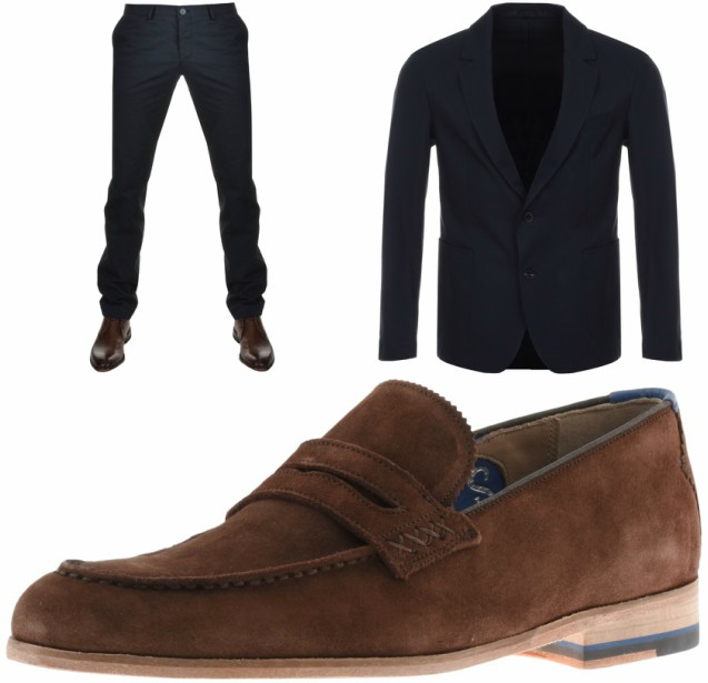 Brown Leather Loafers With Black Pants