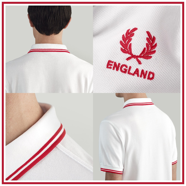 744a0b04d Fred Perry Twin Tipped England Polo T-Shirt White