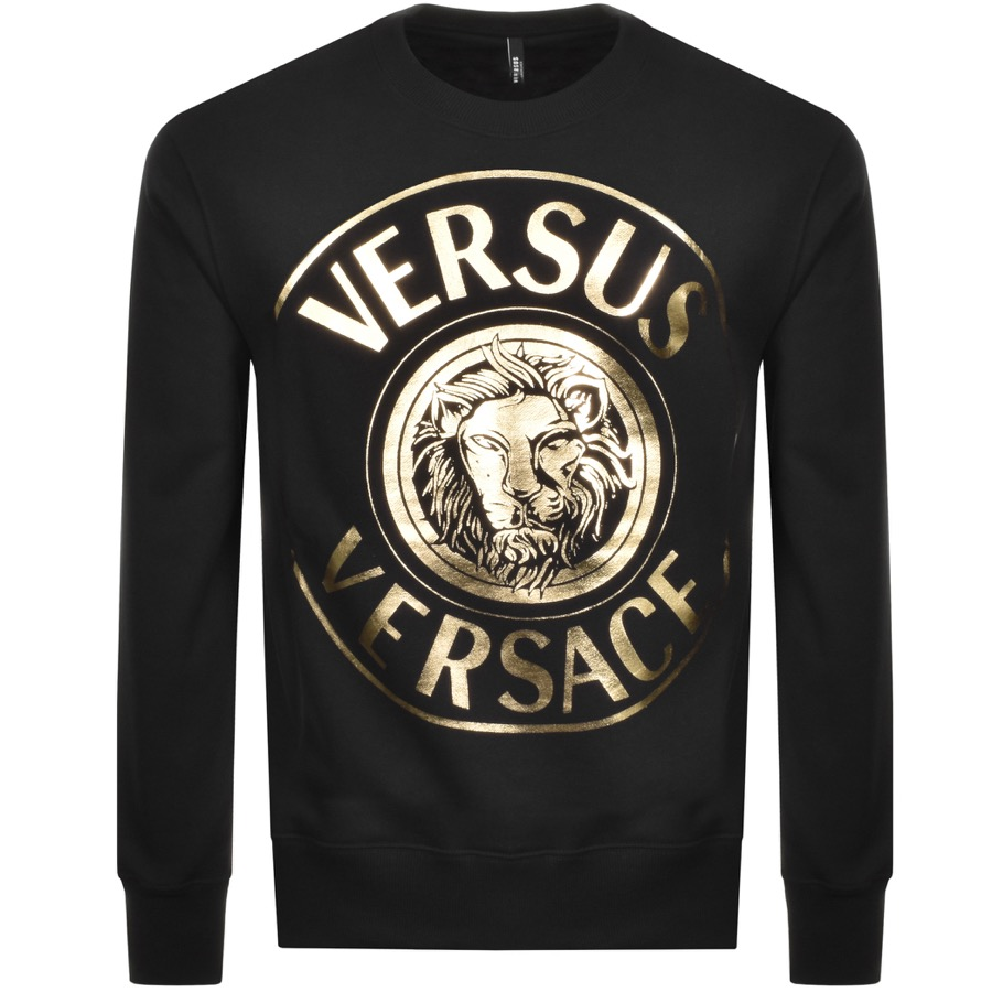 versus versace jumper with large gold logo
