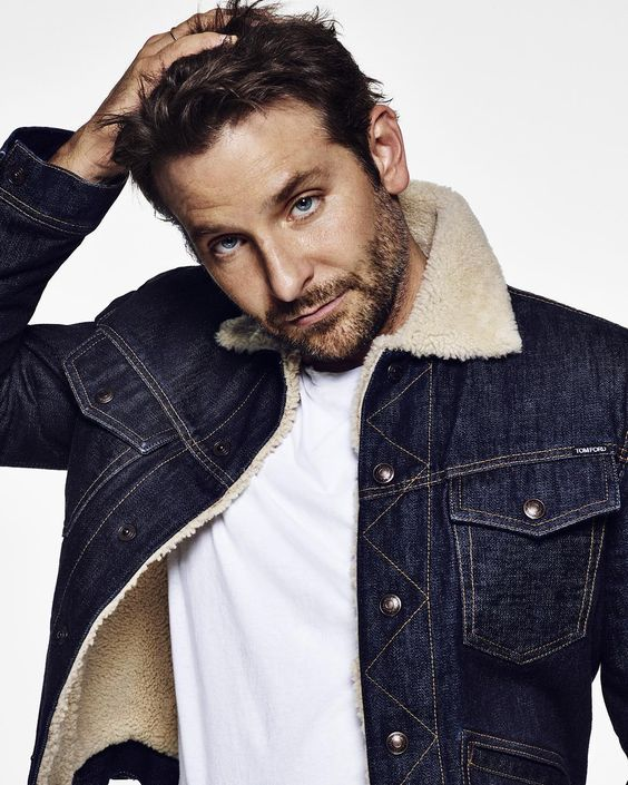 Bradley Cooper in a denim jacket