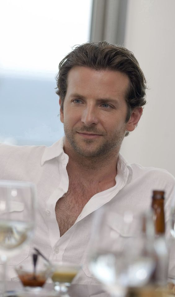 Bradley Cooper in a white shirt