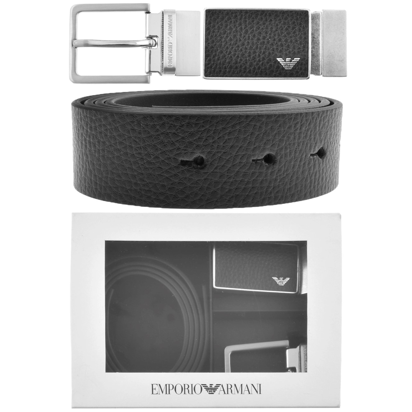 an armani belt with two buckles