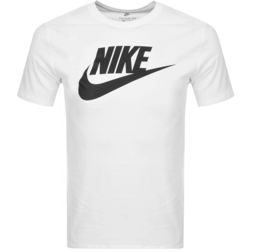 White T-Shirt with large nike logo on the front