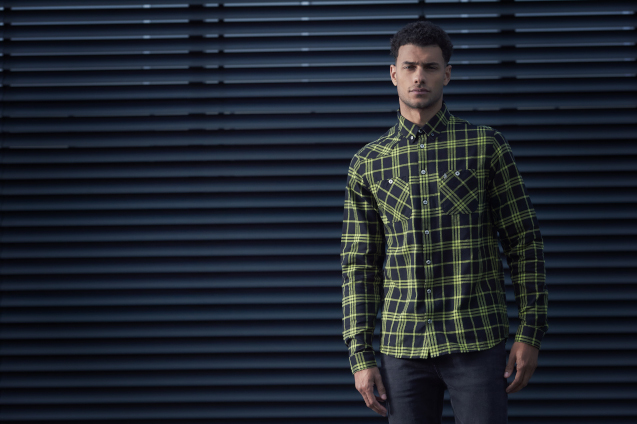 Man In Green Checked Shirt