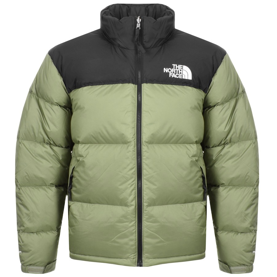 puffer coat for man in green