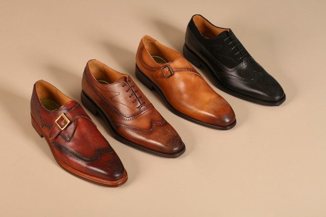 Formal Shoes Lined Up