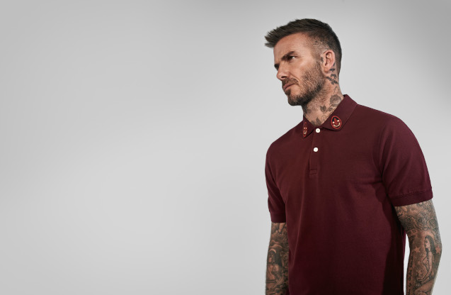 David Beckham wearing a Kent & Curwen Polo Shirt