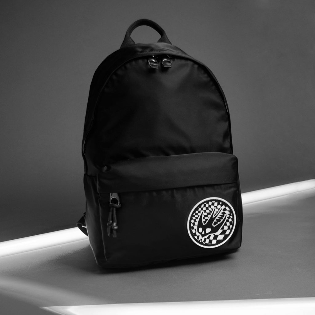 McQ Bag in black with Alexander McQueen logo on bottom right