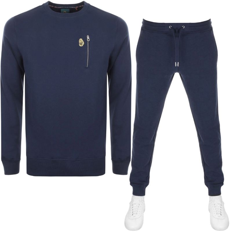 Luke 1977 Paris And Rome Tracksuit In Navy