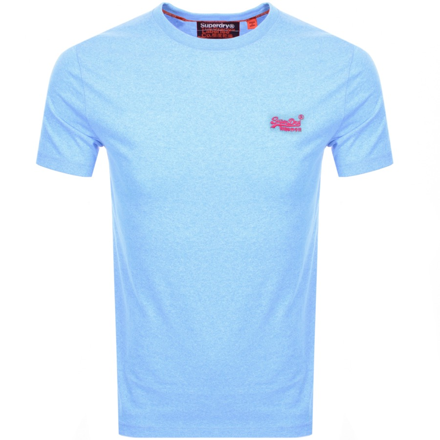 Superdry Orange Label T-shirt in bright Fluro Grit Blue