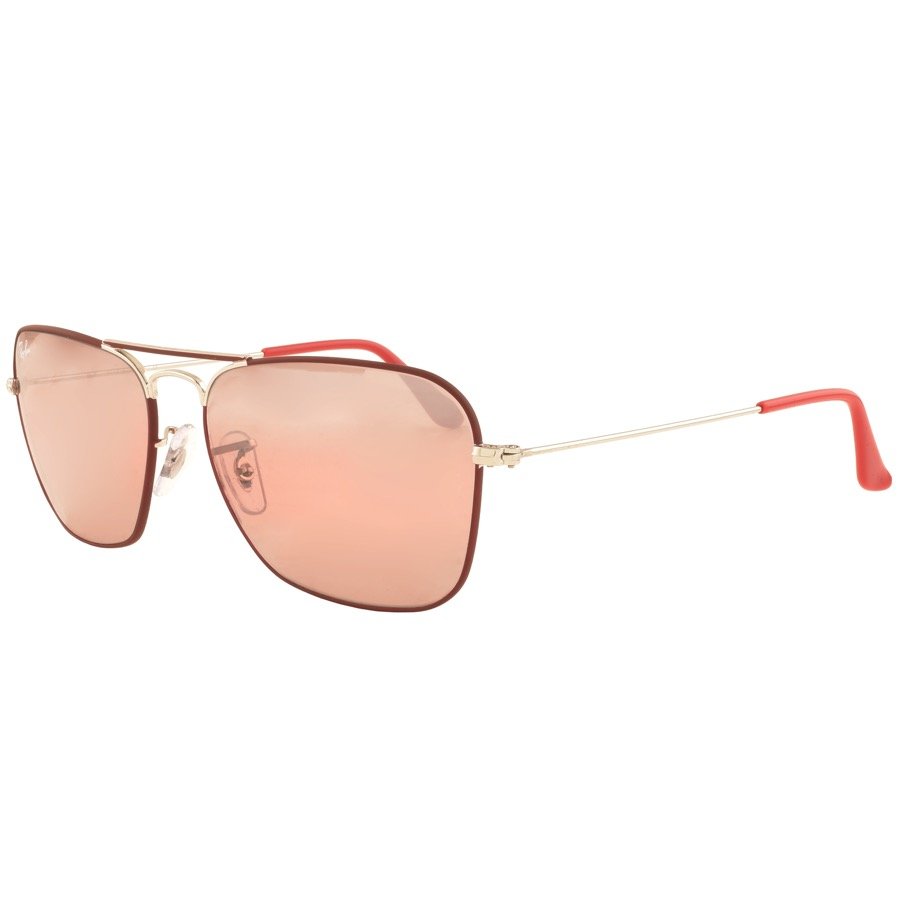 Ray Ban 3136 Caravan Sunglasses In Red, .