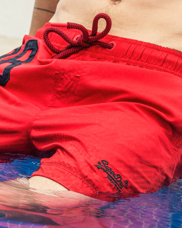 Superdry Red Swimming Trunks