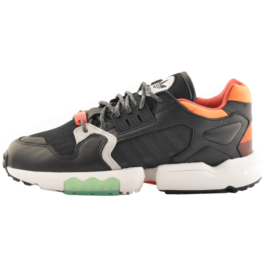 adidas oringals ZX trainers in orange and green