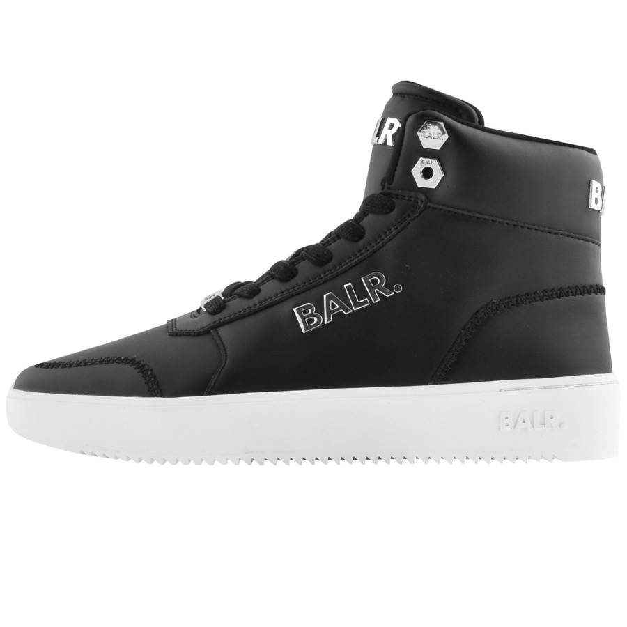 Black BALR trainers for men with a high upper.