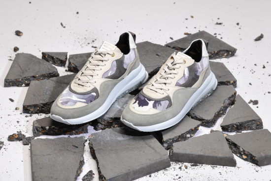 Two grey Android Homme trainers