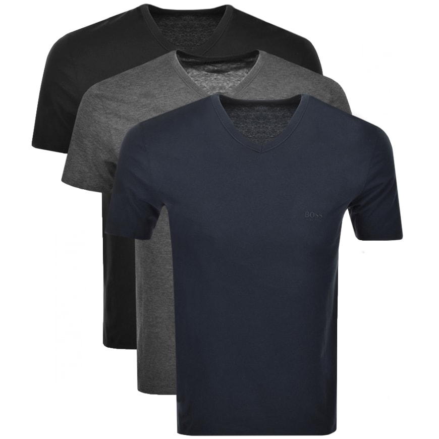 Hugo Boss Triple Pack T-shirts in black and grey