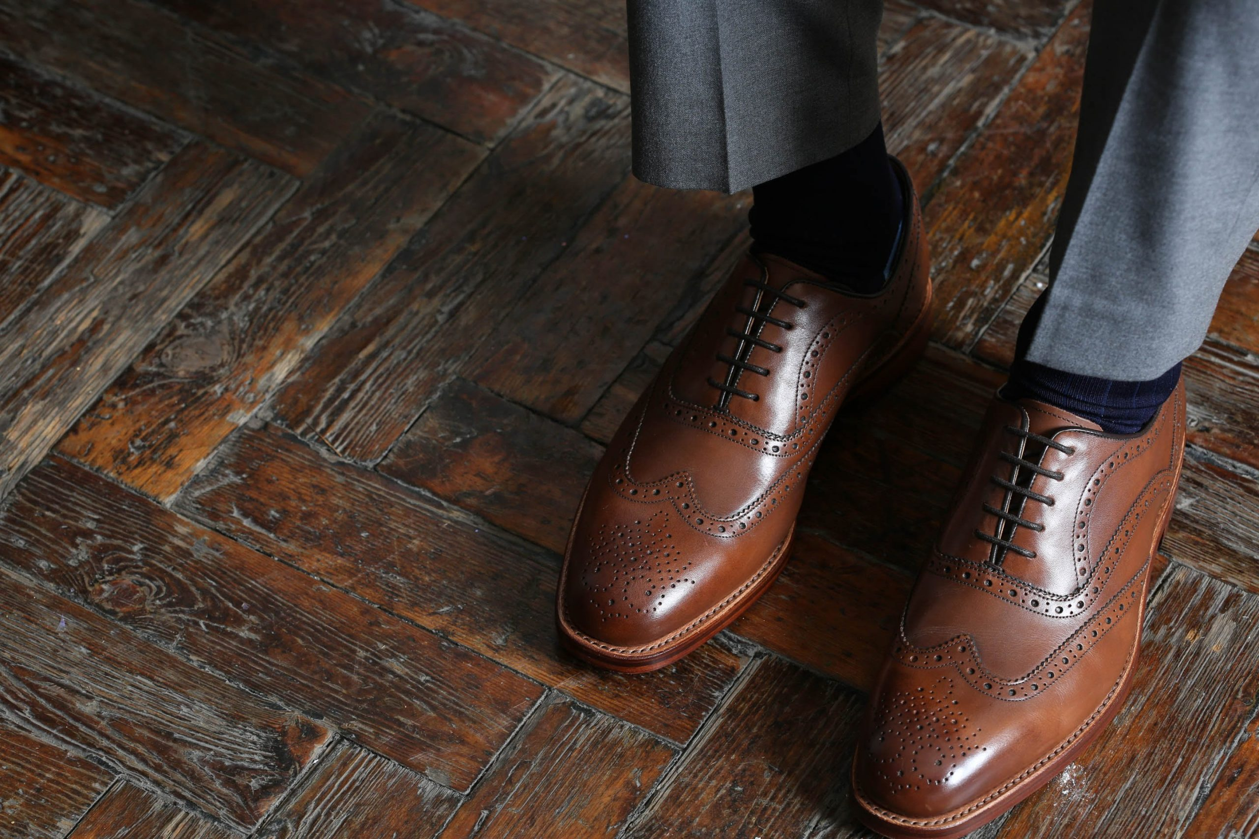 a pair of brown Oliver Sweeney shoes