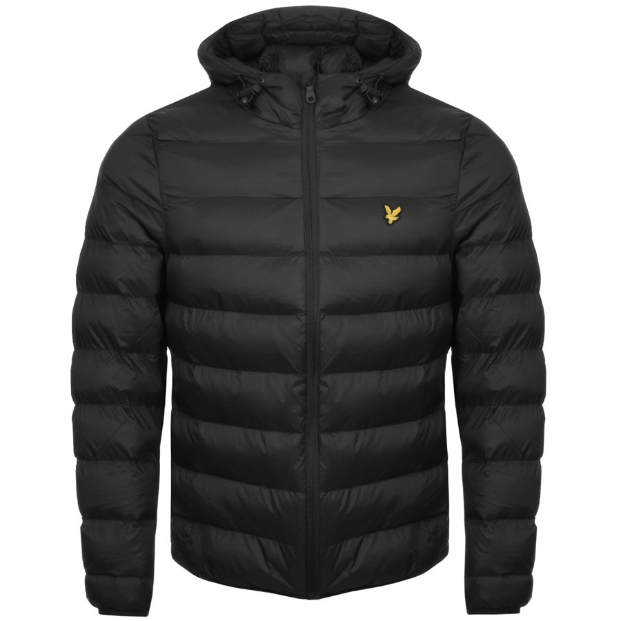A black puffer jacket from Lyle and Scott