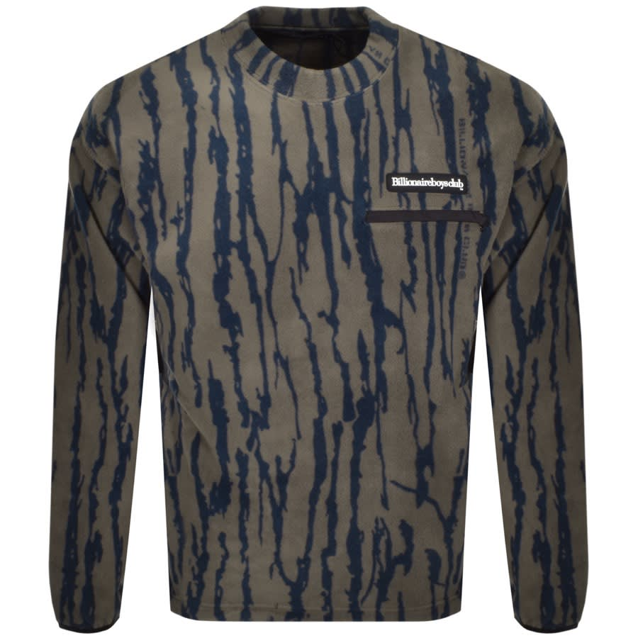 A Billionaire Boys Club jumper with a bark print in brown and black