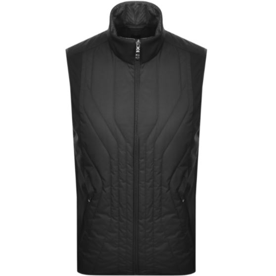 Boss plain black gilet