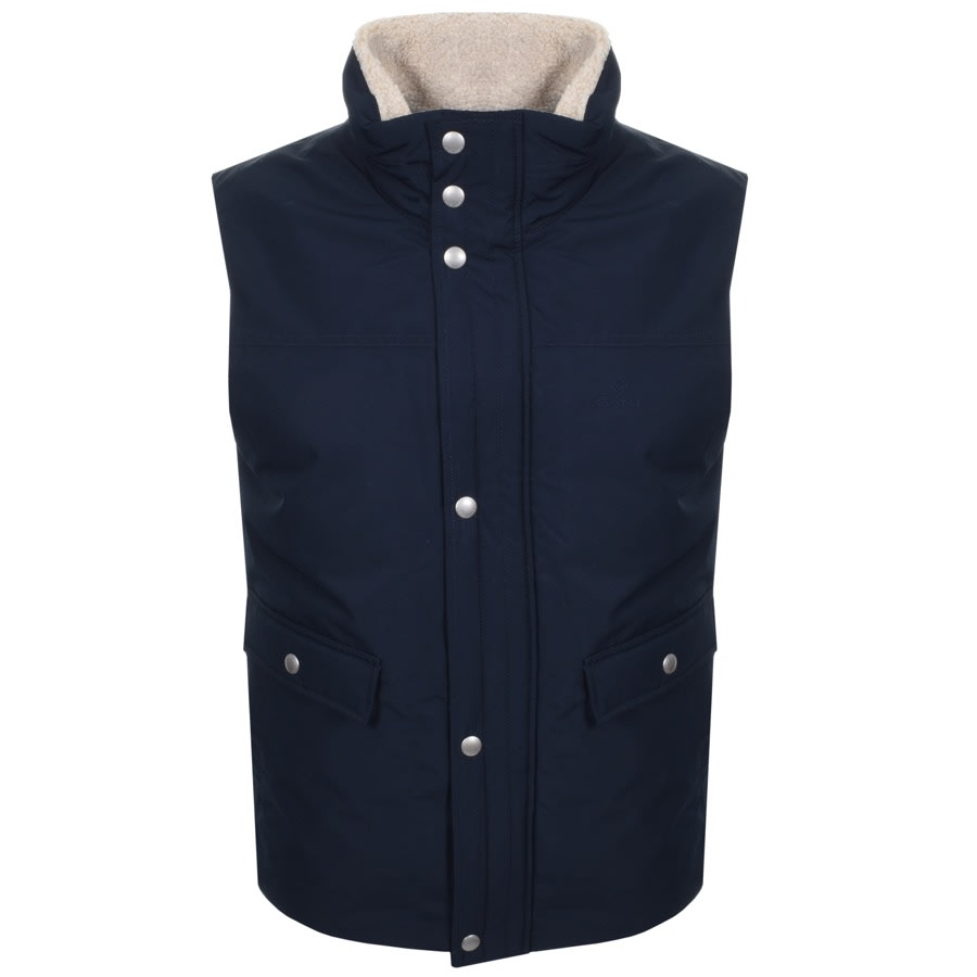 Gant The Weekend Gilet In Navy,