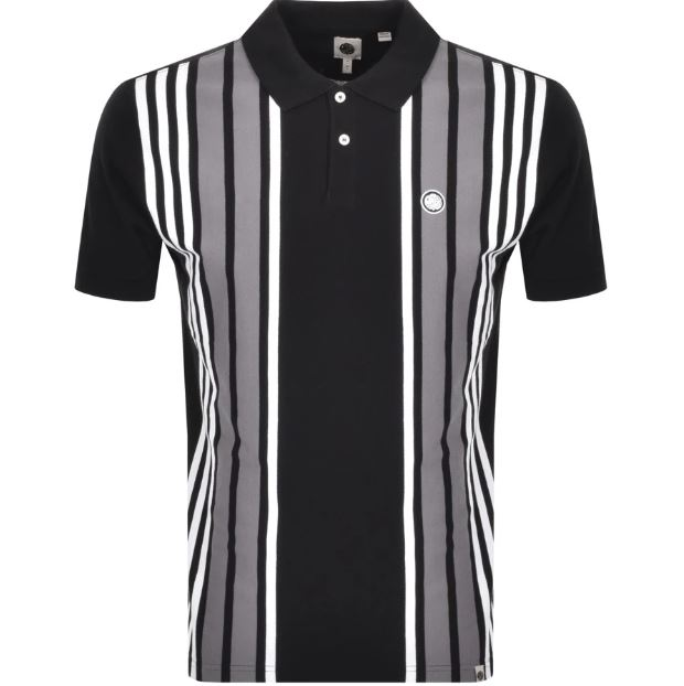 Pretty Green Walsh Stripe Polo T Shirt Black