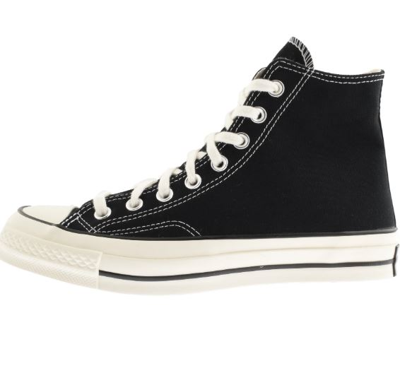 black high top converse trainers for men