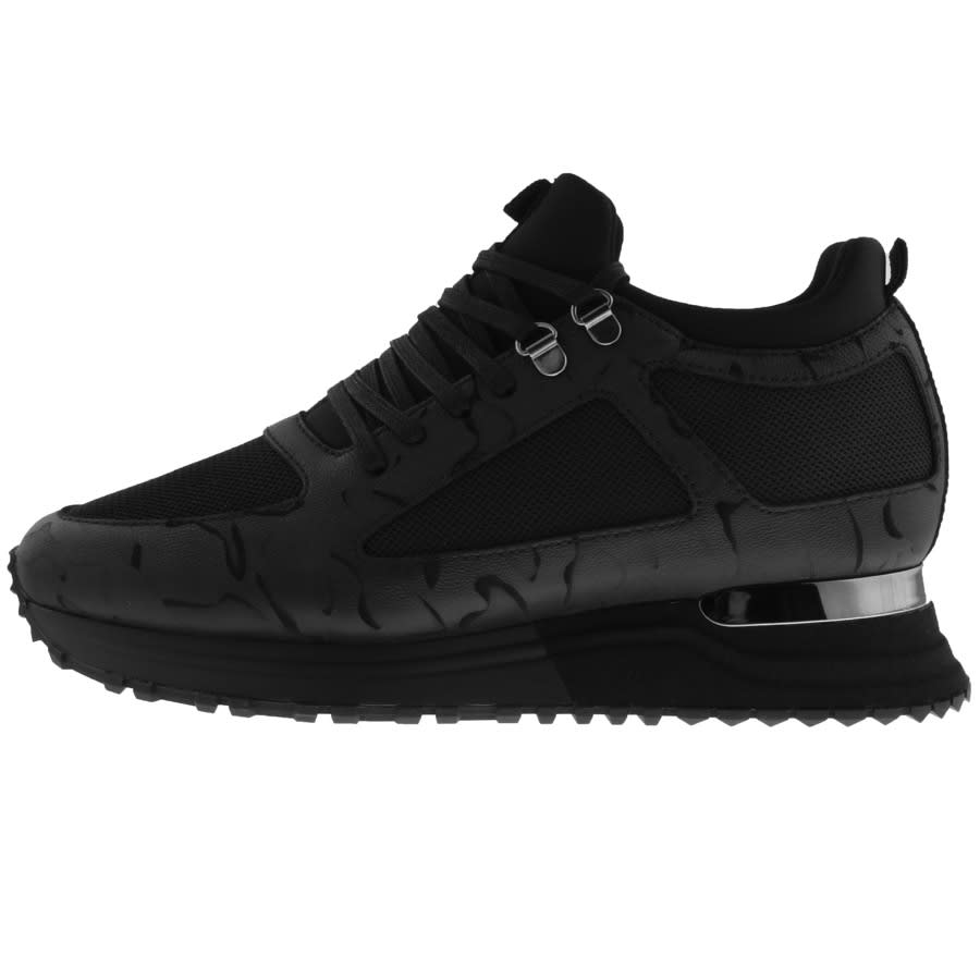 Black Mallet trainers with a shine to the heel